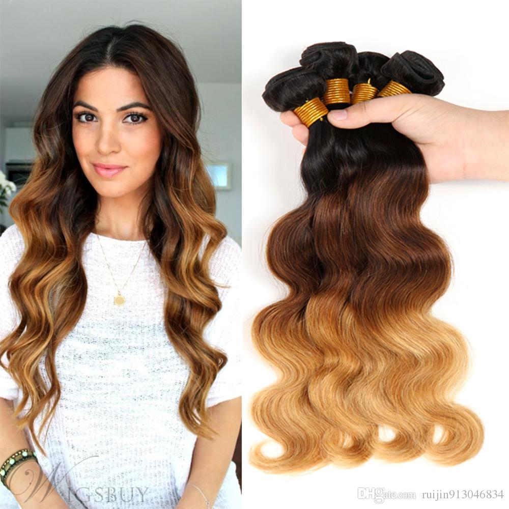 Top 10 Aliexpress 3 Tone Ombre Hair Extensions Black Hair Club