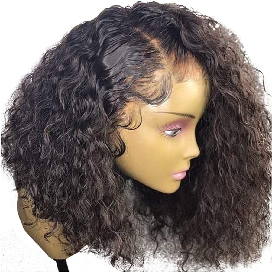 No.2 Brazilian Remy Hair Pre Plucked Short Curly Bob 360 Lace Frontal Human  Hair Wig 01992cb41